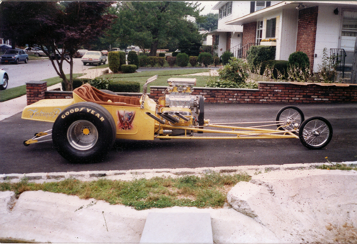street-driven dragster